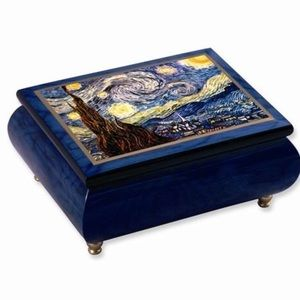 Other - Van Gogh Velvet Musical Jewelry Boxes